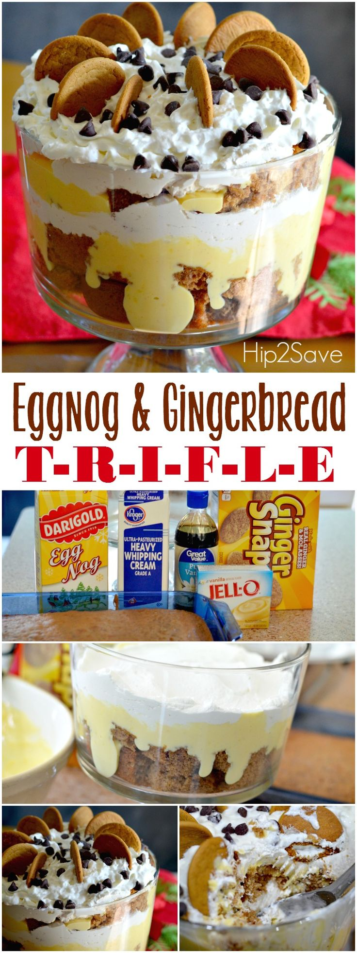 Eggnog Gingerbread Trifle. Great. A great winter and holiday treat. – Hip2Save.com