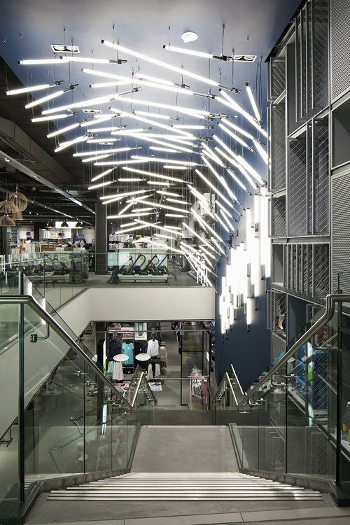 Design showcase light installation breaks waves in john lewis retail design world
