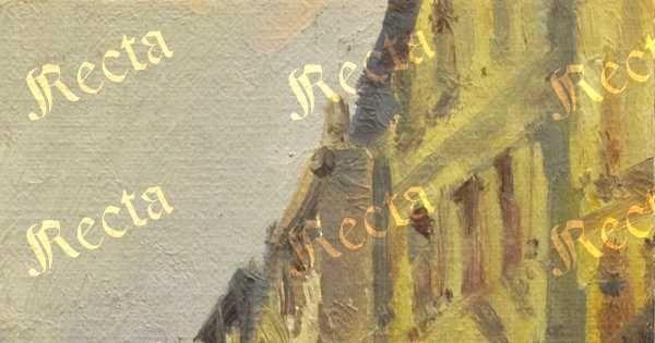 Olio su cartone telato 22cm x 14cm  ♦  Recta Galleria d'arte -  Roma - Pittori e dipinti dell'ottocento e novecento, arte e scultura 800 e primo 900