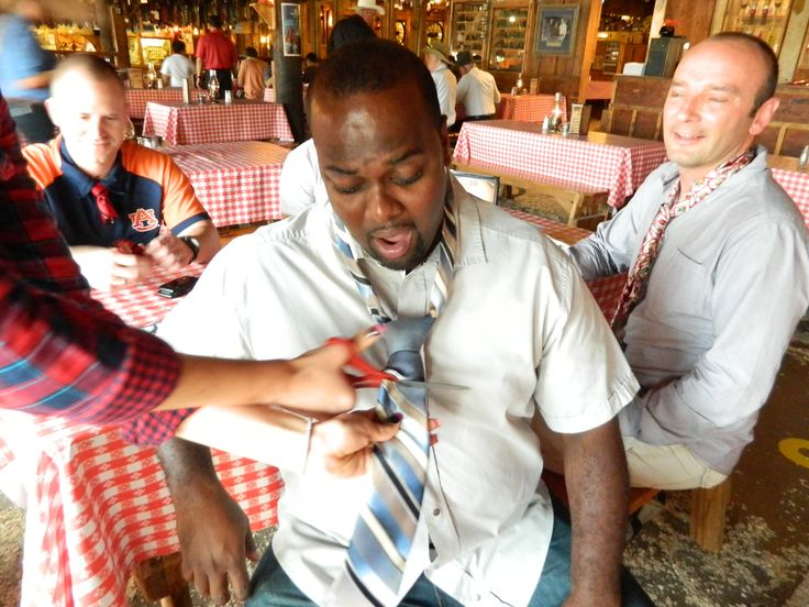 Another Ugly Necktie Cut At Pinnacle Peak Patio Steakhouse. Http://www.