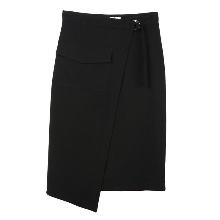 Pocket Wrap Skirt