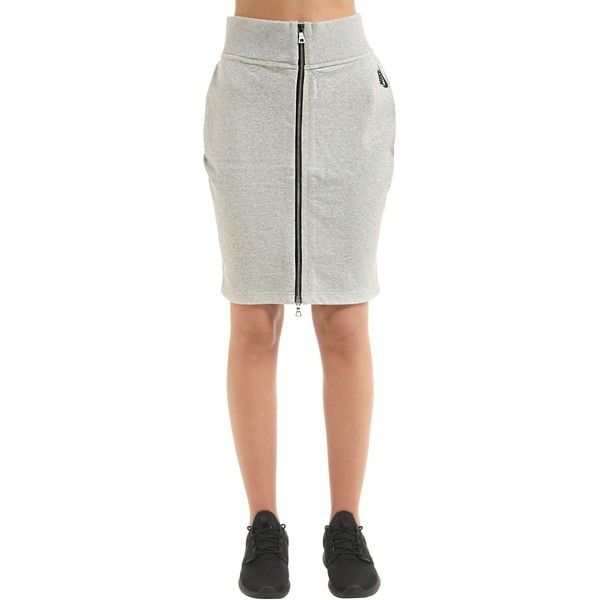 Nike Women Nikelab Essentials Cotton Sweat Skirt (1.240 DKK) ❤ liked on Polyvore featuring skirts, heather grey, nike skirt, cotton skirts, cotton elastic waist skirts, elastic waist skirt and elastic waistband skirt