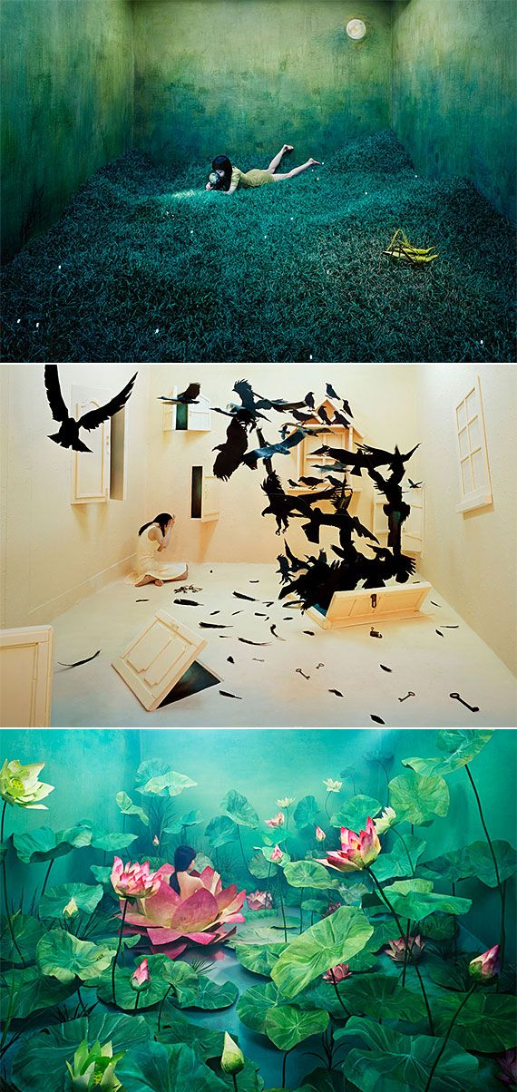 Jee Young Lee transforms her studio into surreal worlds