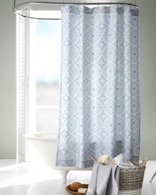 A regal Danish-inspired tile motif in soft, soothing shades adds elegance to a shower curtain of wrinkle-resistant Egyptian cotton sateen. An ideal finishing touch for a master bath when coordinated with the matching bedding.Printed on a white ground of the finest Egyptian cottonThe distinctive sateen weave gives the cotton a subtle satiny sheenButton holes across the top for easy hangingTop and bottom hems are finished with durable double-needle stitchingImportedSize: 72 x 72Liner is sold…