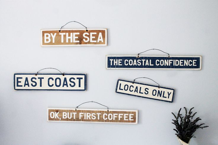 Brandy Melville Signs & Weathered Signs, home decor - The Coastal Confidence