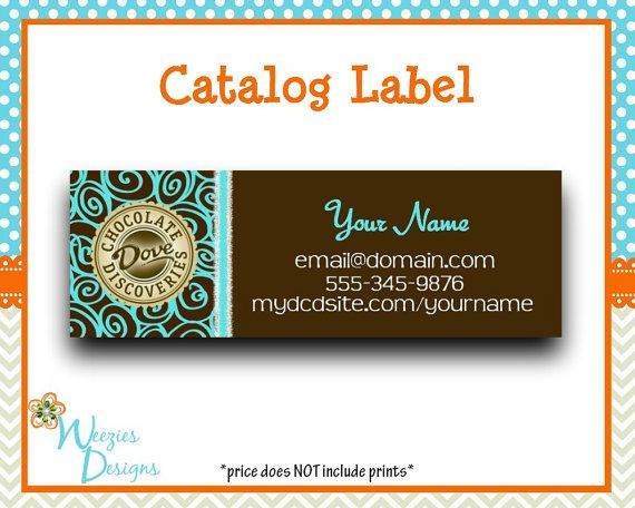 Dove Chocolate Catalog label Direct Sales by WeeziesDesigns