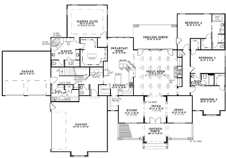 23 best Ranch & Single Story Home Floor Plans images on