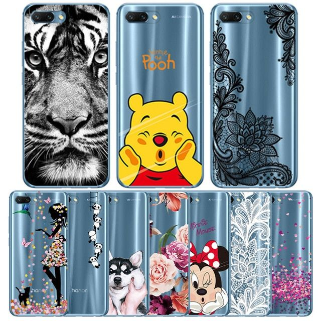 Silicone Case For Huawei Honor 10 Soft Tpu Phone Cover For Honor 8x 9 Lite Y6 2018 Transparant For Honor 7c Ru P Smart 201 Silicon Case Marble Iphone Case Case
