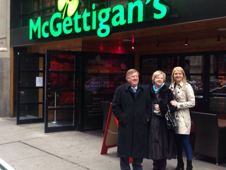 It was a great pleasure to welcome our owners Jim McGettigan and his wife Patricia to #McGettigansNYC! They were in town with their daughter Lorraine, who is the Director of Sales & Marketing for the McGettigan's Group.