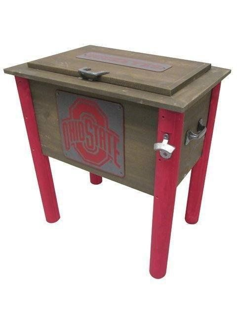 Ohio State Buckeyes All Wood Vintage Collegiate Cooler
