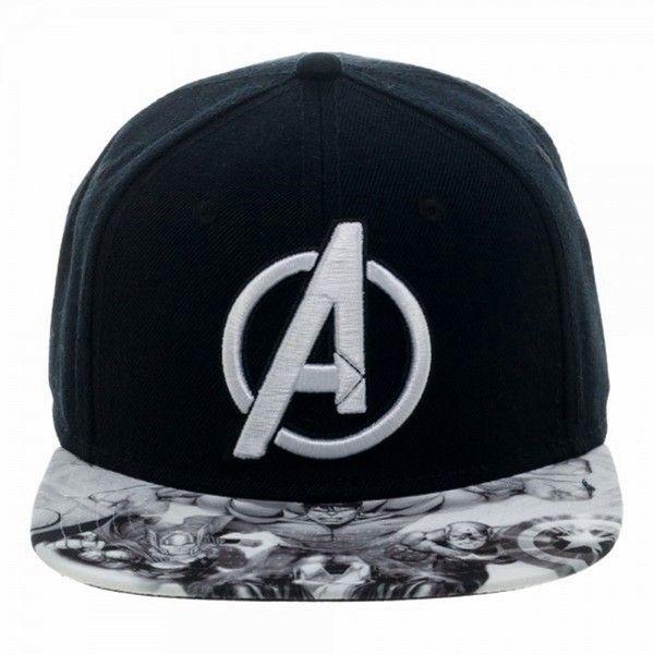 Marvel Comics AVENGERS Logo Sublimated Bill Snapback Baseball CAP/ HAT ($20) ❤ liked on Polyvore featuring accessories, hats, baseball cap hats, sport hats, baseball hats, baseball cap and sports snapback hats