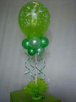Centro de mesa verde