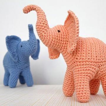 Trunk-Up Elephant amigurumi pattern by StuffTheBody