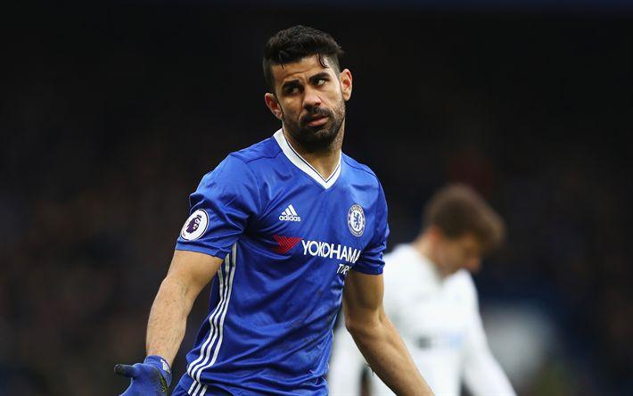 Télécharger fonds d'écran Diego Costa, 4k, Chelsea, l'espagnol, joueur de football, Ligue des champions, Londres, football