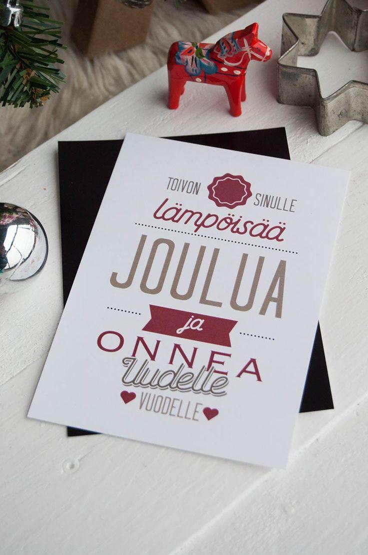 joulukortti lämpöisää joulua