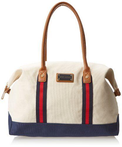 Tommy Hilfiger Solid Canvas Carson Shoulder Bag - http://handbagscouture.net/brands/tommy-hilfiger/tommy-hilfiger-solid-canvas-carson-shoulder-bag-2/