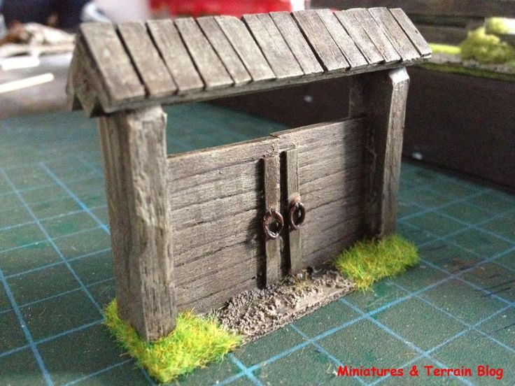 Miniatures & Terrain: Eastern Front wooden gates – how to tutorial – Part #2