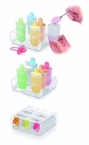 Con lo #stampo #ghiaccioli di #Tescoma realizzi in modo semplice e veloce gustosi ghiaccioli, #gelati, puree di #frutta, #sorbetti, ed altro ancora direttamente a casa. Nella #confezione, oltre agli stampi, trovi un pratico supporto per congelare facilmente i ghiaccioli nel #freezer e per conservare gli stampi, e delle #ricette.   http://www.cucinaincasa.com/tescoma-stampi-x-ghiaccioli-6-pezzi-bambini-698.html
