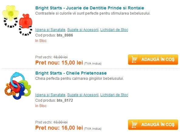 Happy Days cu reduceri la produsele Bright Starts | Zgarciti.ro - Comunitatea Zgarcitilor din Romania