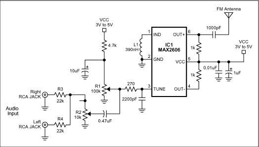 max2606 mini fm transmitter