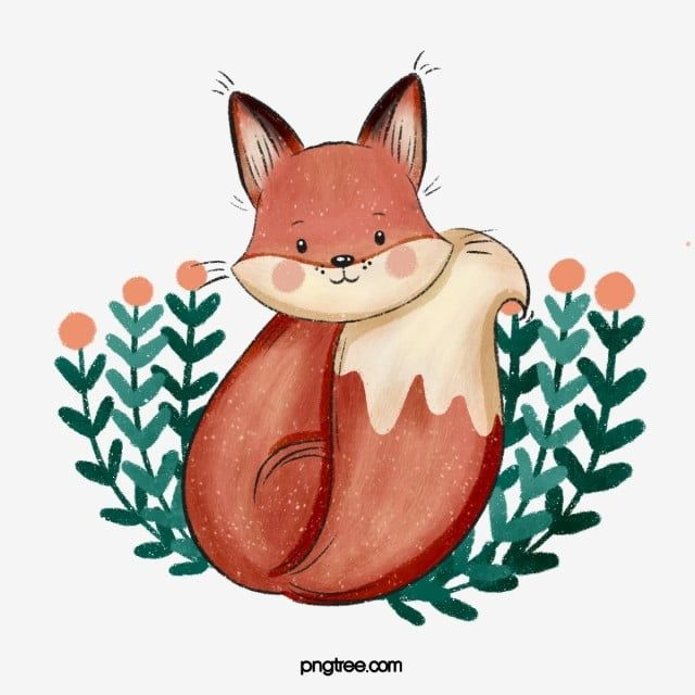 Hand Drawn Cartoon Cute Little Fox Fox Clipart Animal Fox Png Transparent Clipart Image And Psd File For Free Download Cartoon Clip Art Clip Art How To Draw Hands