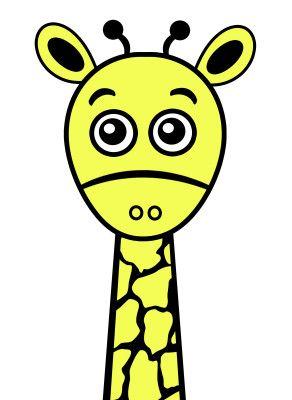 Plotter Freebie Giraffe
