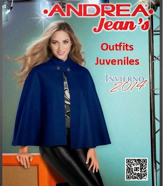 Catalogo de Andrea Jeans Invierno 2014. Outfits Juveniles de moda