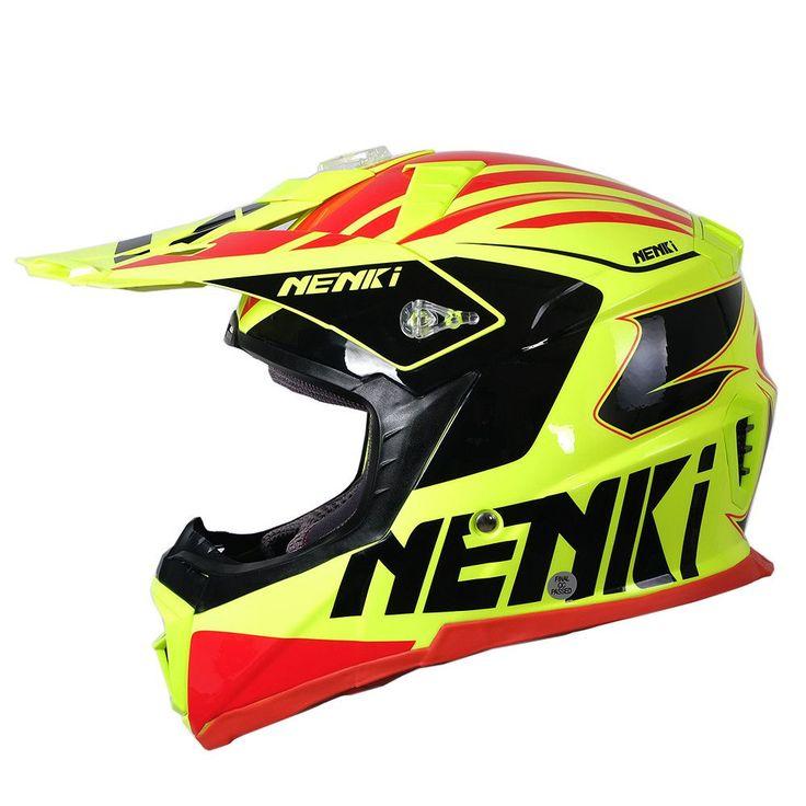 NENKI Fiberglass Men Women Motocross Racing Helmet Windproof Motorcycle Cross-Country Helmet Dirt Motorbike Helmet Casque Moto