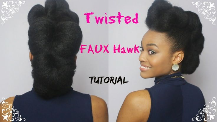 Faux Hawk on Natural Hair | Day 12 of 12 Days of Christmas Series