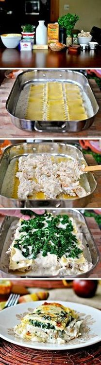 White Cheese & Chicken Lasagna