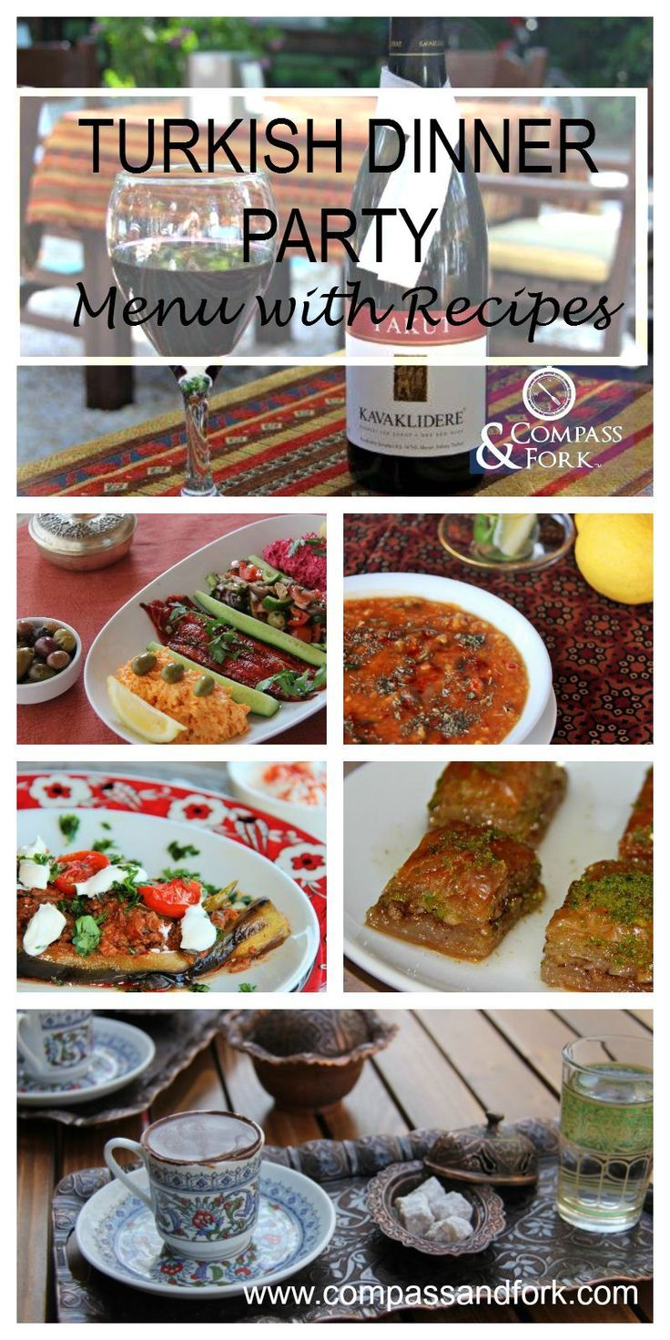 Turkish dinner party menu with recipes dinner parties for Dinner party menus and recipes