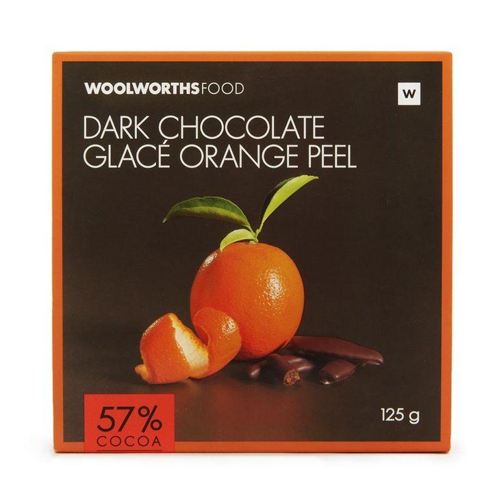 Dark Chocolate Glacé Orange Peel 125g
