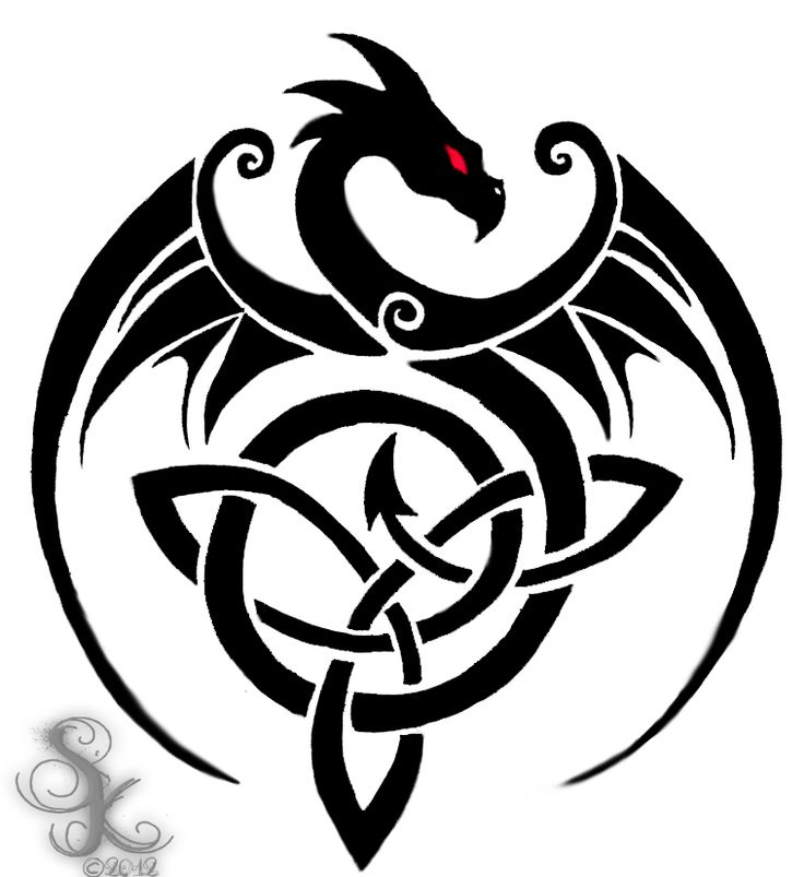 Love the dragon/ celtic knot!                                                                                                                                                                                 More
