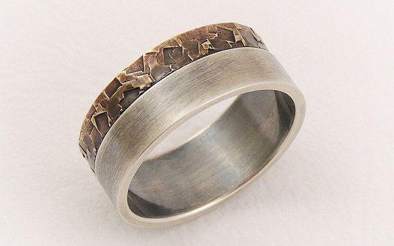 III Elegant engagement ring for men  man wedding by GilleriJewel, $142.00