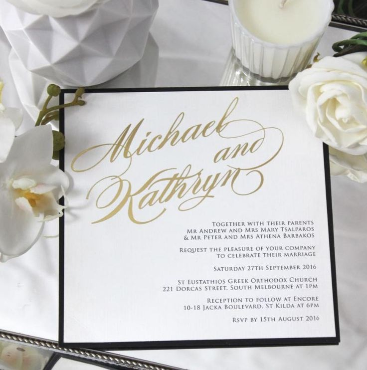71 best wedding invitations images on pinterest easy weddings chicreative wedding invitation black and gold classic design luxe glamorous and traditional in stopboris Choice Image