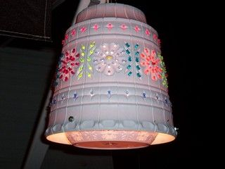 ive seen these camping and made a simple one drilling random holes. i want to make another one for the front porch cuz they look so cute at night.