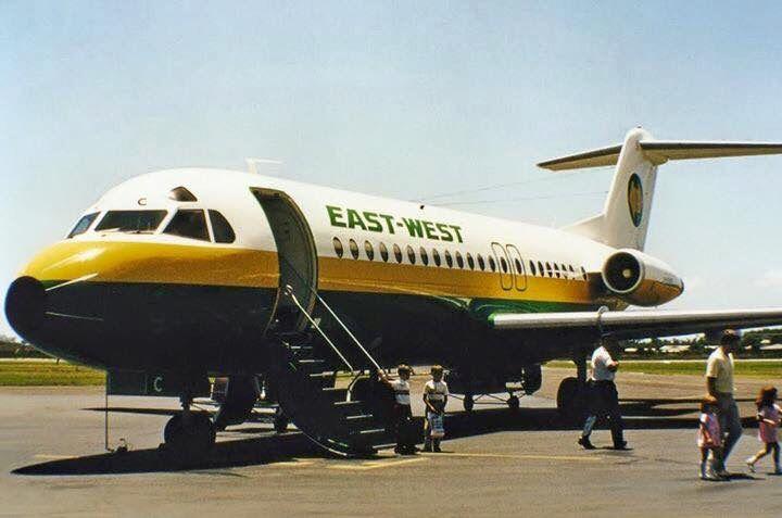 East West Fokker F28 Fellowship (VH-EWC)