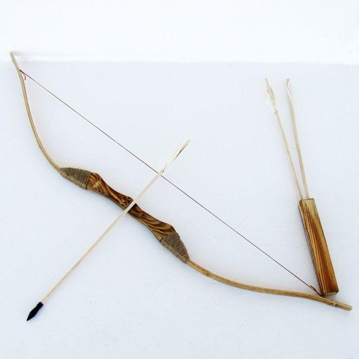 ARCO Y FLECHA  PARA OCHOSI (Wooden Bow and Arrows)