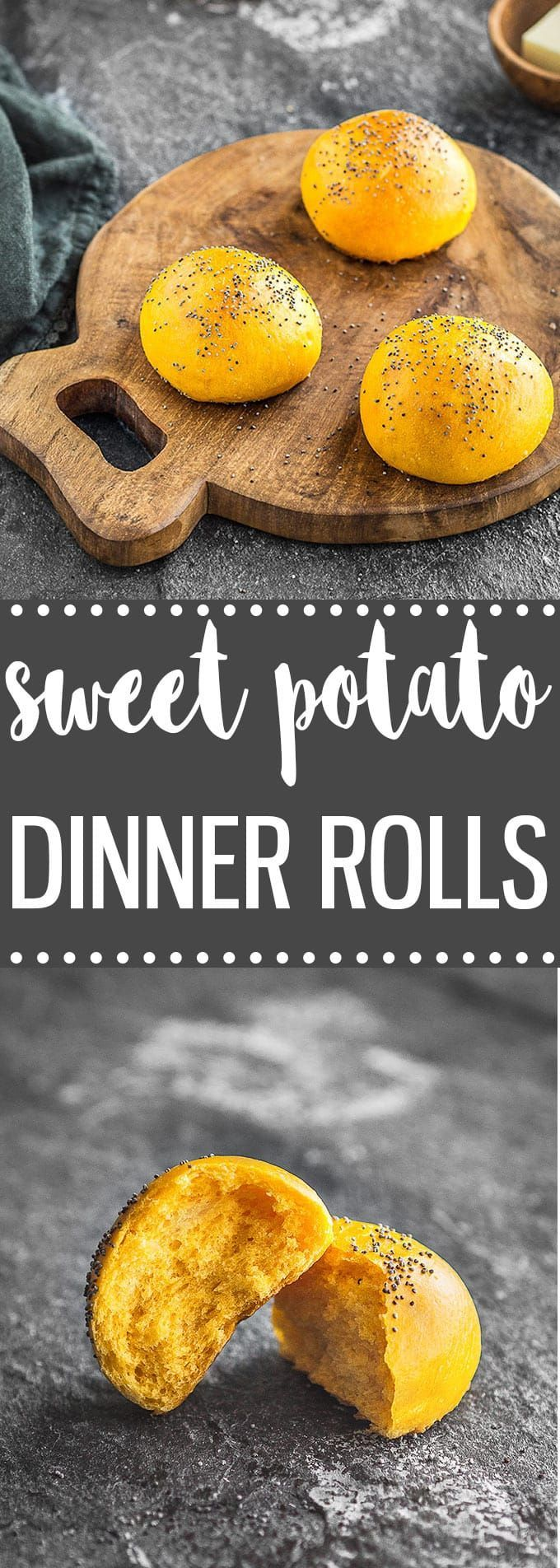 Soft and fluffy homemade sweet potato dinner rolls. This is the perfect easy recipe for your Thanksgiving table! via /easyasapplepie/