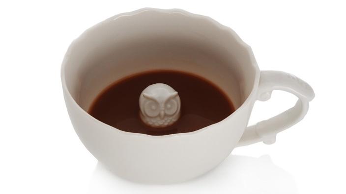 {Hidden Animal Teacups} hello teacup owl! also a fox & a bear :)