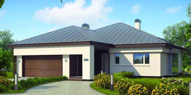 Plano de casa cl sica y moderna de 3 dormitorios y 2 for Casa moderna 5 dormitorios
