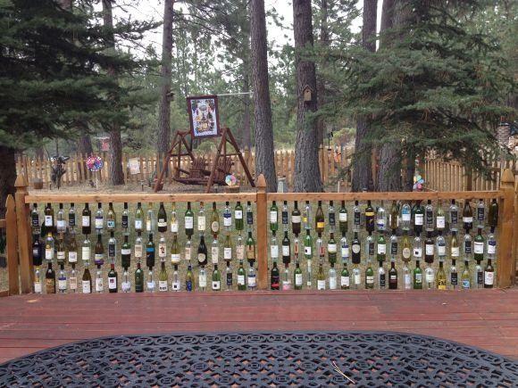 Wine Bottle Fence in Bend, Oregon