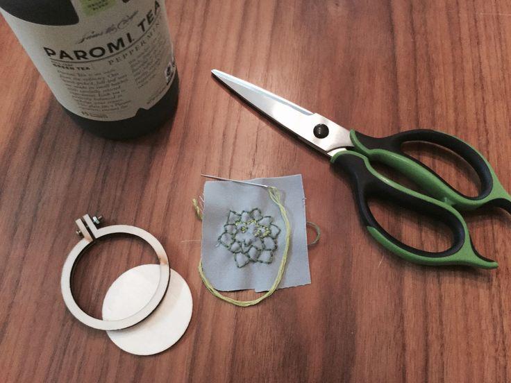Femspann, Mollie Makes, embroidery, craft night