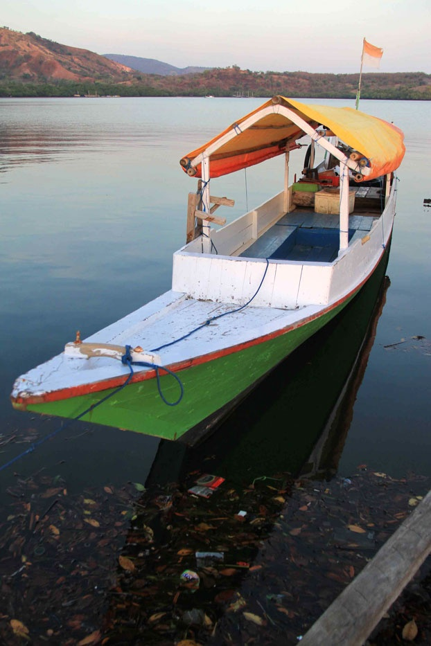 A Bajo fishing boat moored at the village harbor in Riung. The village is around 3 to 4-hour drive from Bajawa, the administrative capital of Ngada Regency.