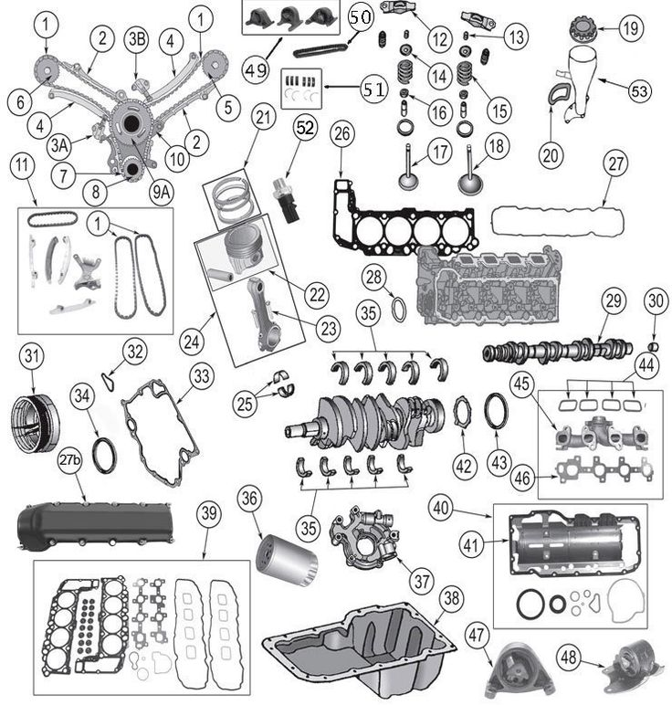 17 best images about grand cherokee wk parts diagrams grand cherokee wk 4 7 liter daimler chrysler engine