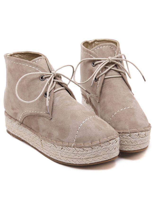 Shop Camel Espadrille Lace Up Flats online. SheIn offers Camel Espadrille Lace Up Flats & more to fit your fashionable needs.
