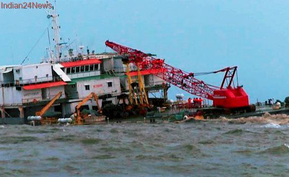 Coast Guard rescues stranded members aboard sinking barge near Mangalore