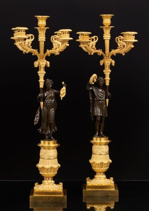 *Pair of French Candelabra, ca. 1825