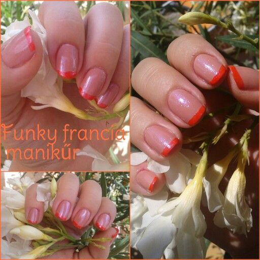 Funky french manicure #nailart