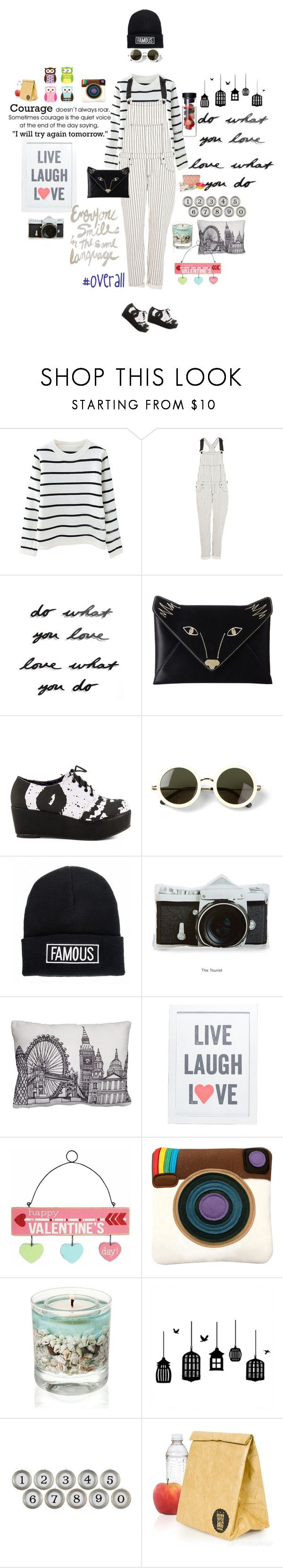 """""""tricky trend: look chic in overalls"""" by girl-with-ideas ❤ liked on Polyvore featuring River Island, Umbra, BCBGMAXAZRIA, Iron Fist, The Row, Quiz, WALL, Puji, Aidan Gray and ZAK"""